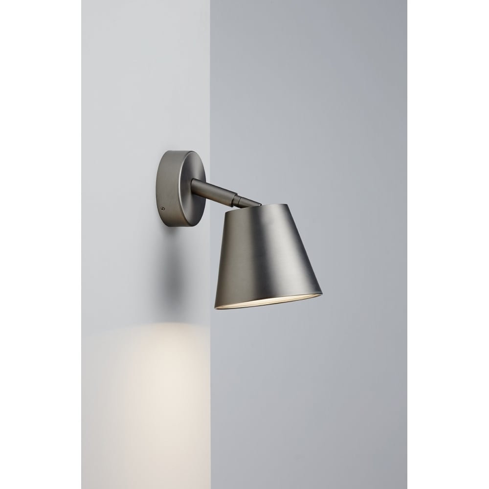 Contemporary led bathroom wall spot light in brushed steel finish splash ip s6 brushed steel led bathroom wall spot light aloadofball Choice Image