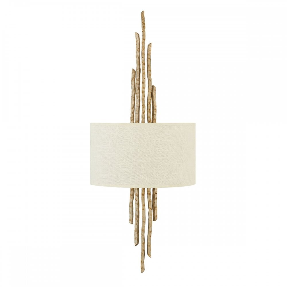 Hammered Champagne Gold Wall Light With Shade Lighting