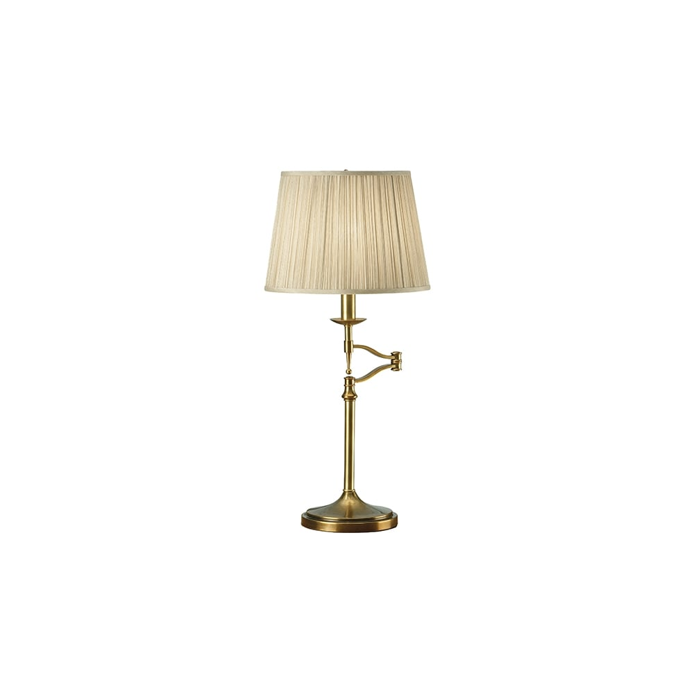 Stanford Swing Arm Traditional Table Lamp With Shade