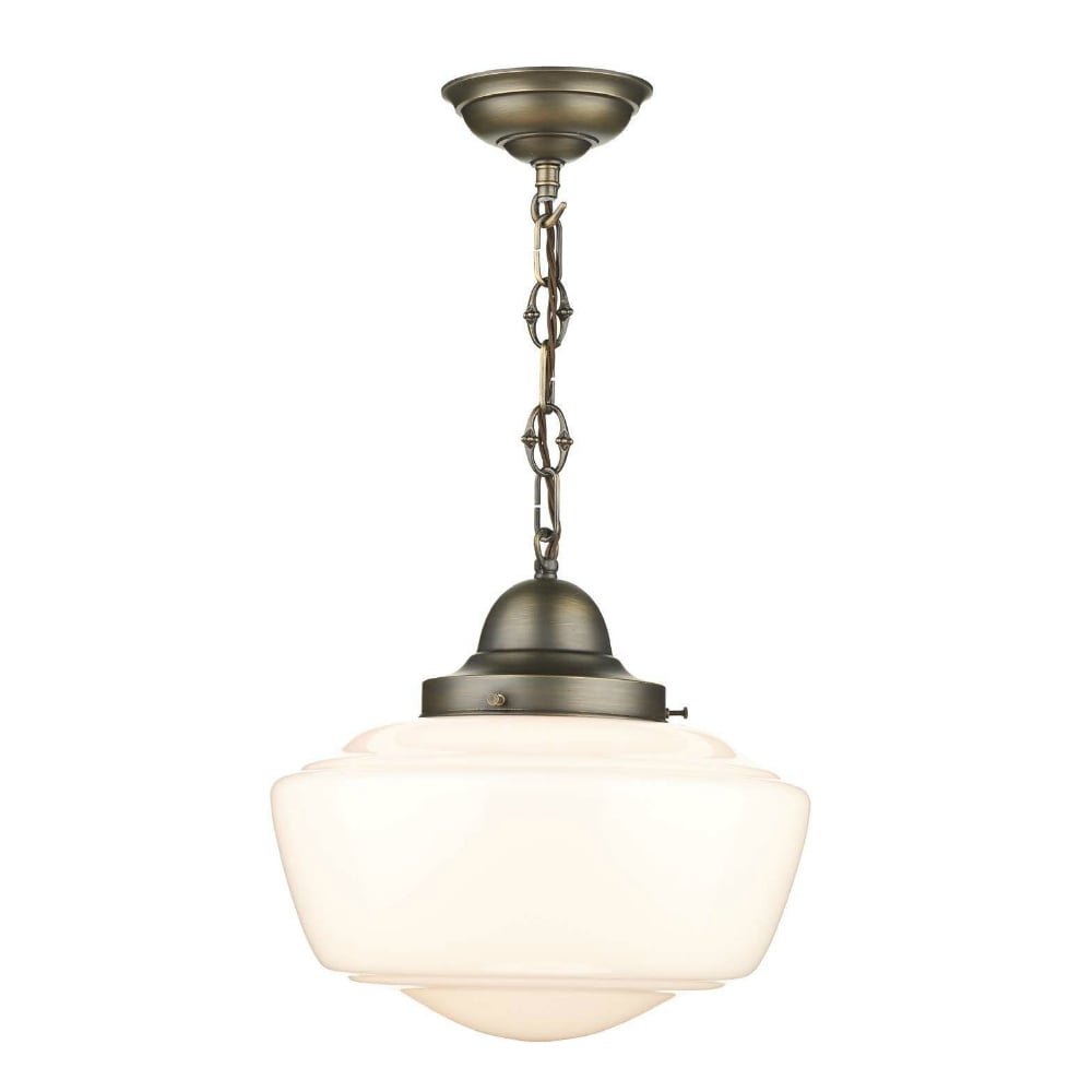 vintage schoolhouse style pendant light fitting ideal for kitchens