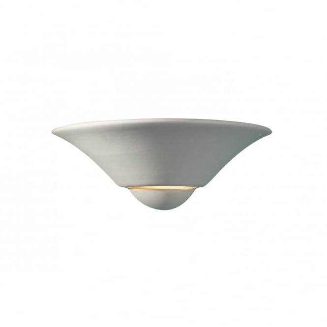SWIFT double insulated white ceramic wall light