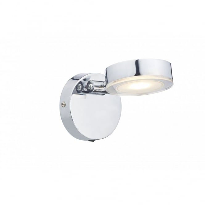 Contemporary Led Polished Chrome Wall Light Switched Class 2