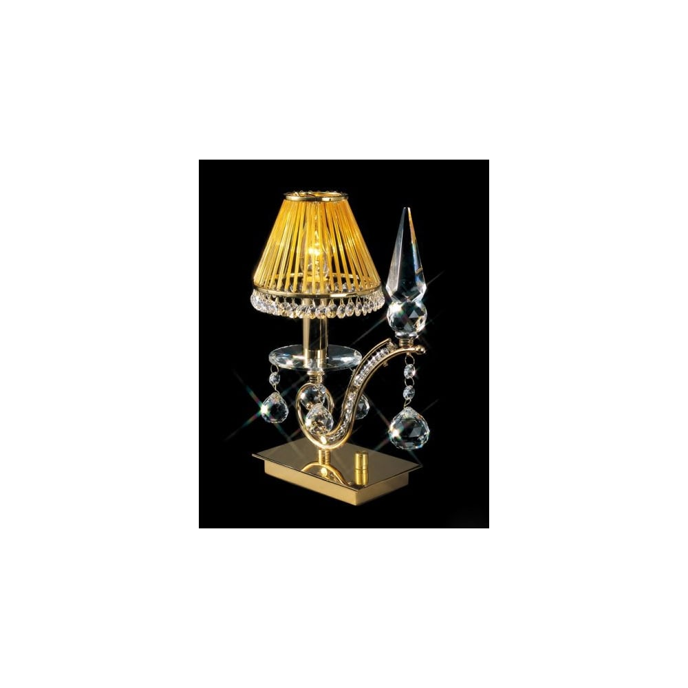 Gold plated table lamp with asfour lead crystal decoration online shop tara gold plated table lamp with asfour lead crystal decoration aloadofball Images