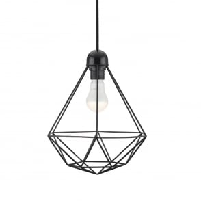 Contemporary geometric wire frame ceiling pendant in black black frame ceiling pendant light greentooth Gallery