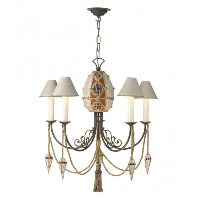 The David Hunt Lighting Collection ANASTASIA traditional 5 light ceiling pendant