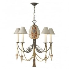 ANASTASIA traditional 5 light ceiling pendant