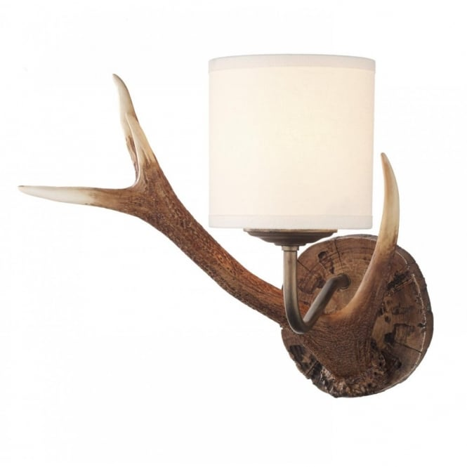 The David Hunt Lighting Collection ANTLER rustic wall light with deer antlers