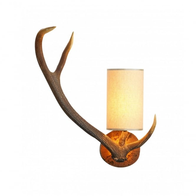 The David Hunt Lighting Collection ANTLER stag wall light