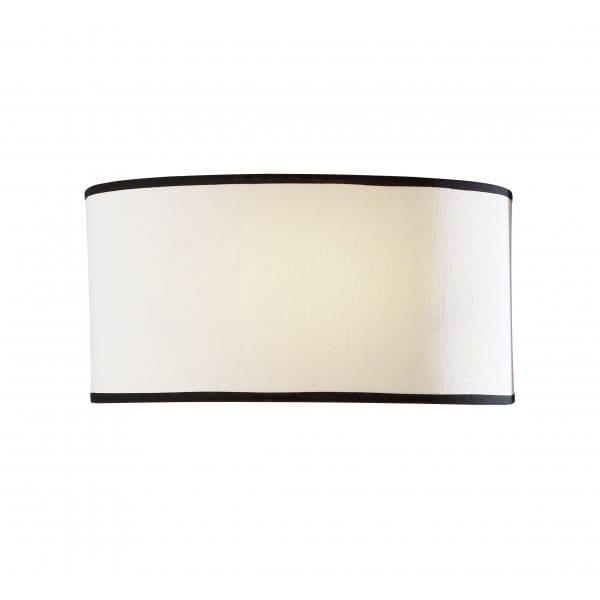Contemporary Flush Wall Lights : British Made Flush Cream Semi Circular Wall Light - Double Insulated.