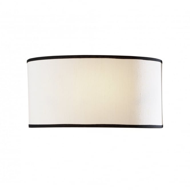 The David Hunt Lighting Collection ASCOTT flush contemporary wall light with semi circular shade