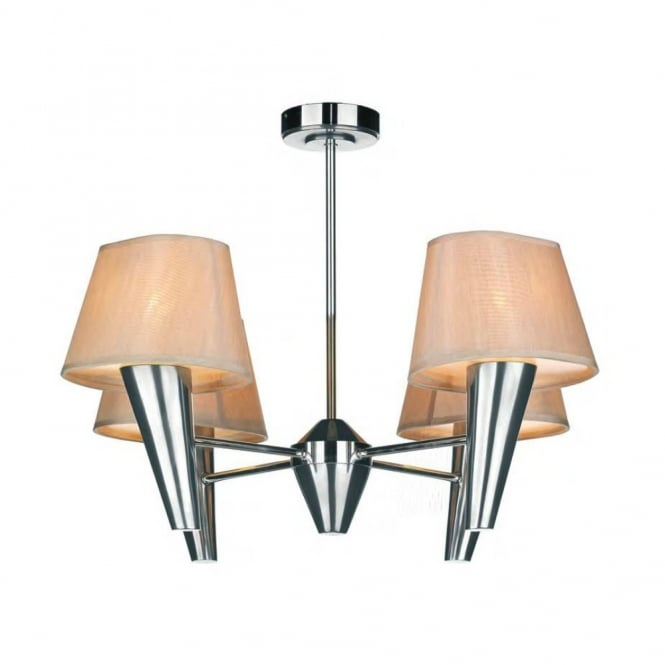 The David Hunt Lighting Collection ASPEN 4lt chrome ceiling light with shades