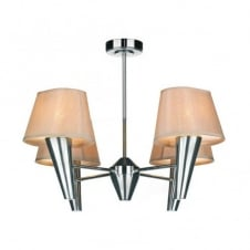 ASPEN 4lt chrome ceiling light with shades