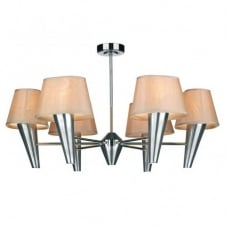 ASPEN 6lt chrome ceiling light with shades