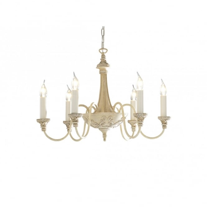 The David Hunt Lighting Collection BAILEY antique cream ceiling pendant