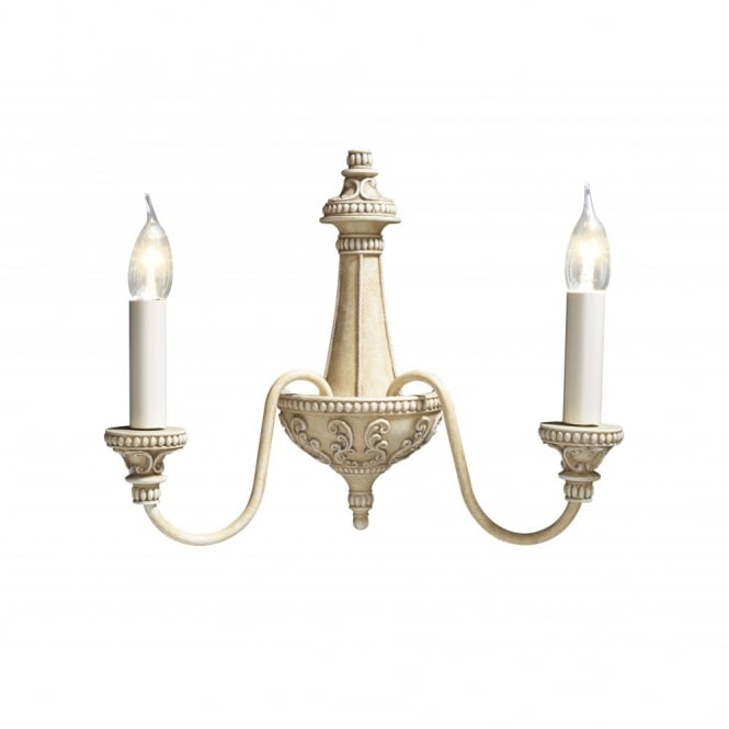 The David Hunt Lighting Collection BAILEY antique cream wall light