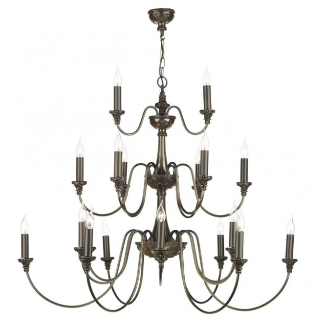 The David Hunt Lighting Collection BAILEY large traditional bronze chandelier