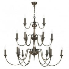 BAILEY large traditional bronze chandelier