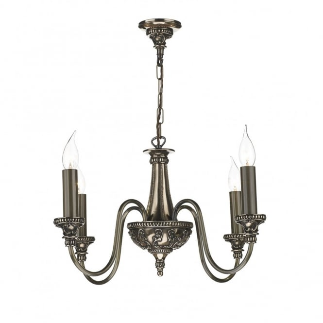 The David Hunt Lighting Collection BAILEY traditional bronze 4lt chandelier