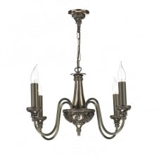 BAILEY traditional bronze 4lt chandelier