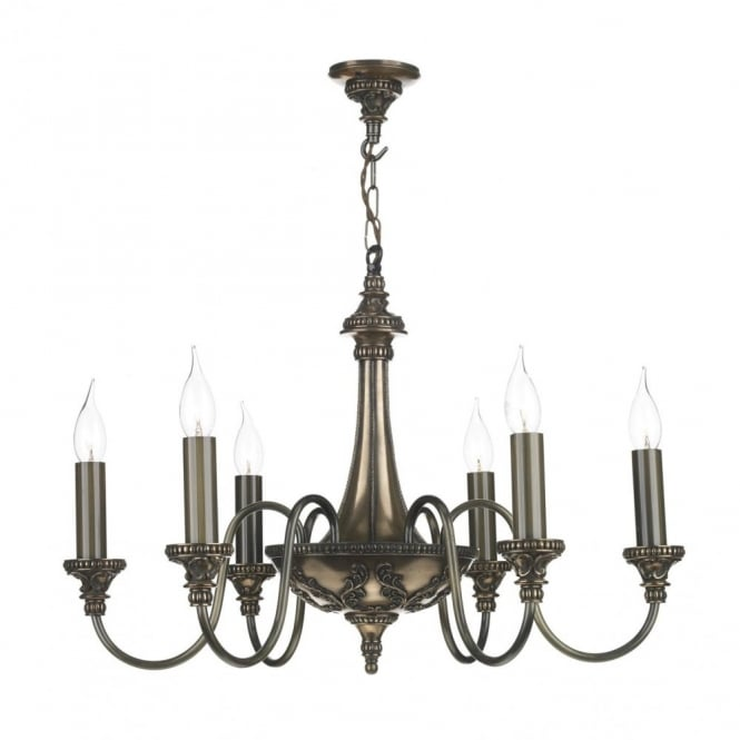 The David Hunt Lighting Collection BAILEY traditional bronze 6 light chandelier