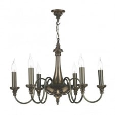 BAILEY traditional bronze 6 light chandelier