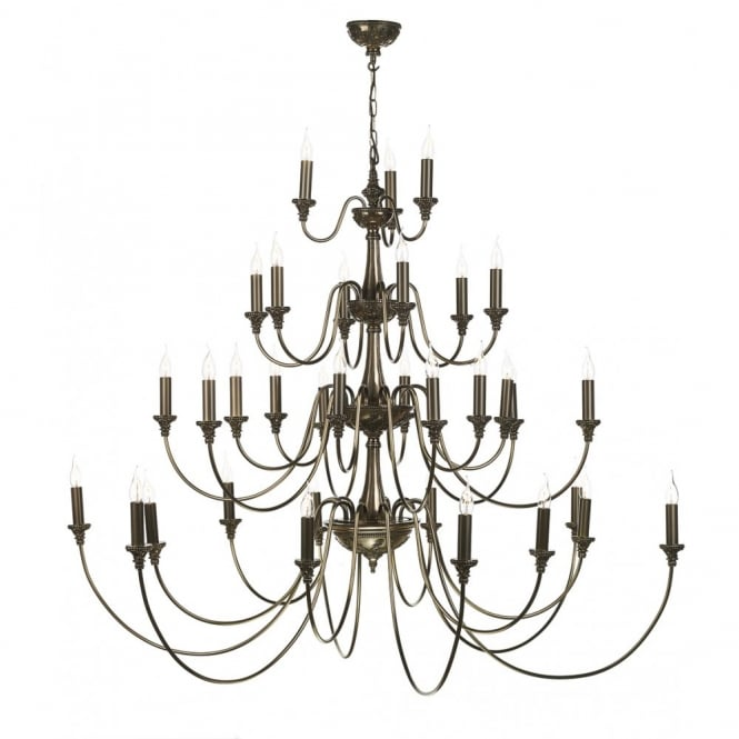 The David Hunt Lighting Collection BAILEY very large 4 tier Georgian or Regency chandelier