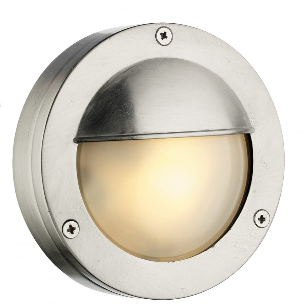 Bembridge round nickel outdoor bulkhead light nickel outdoor round bulkhead light aloadofball Image collections