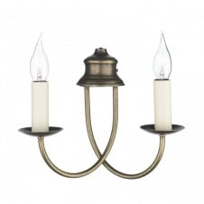 BERMUDA aged brass double wall light