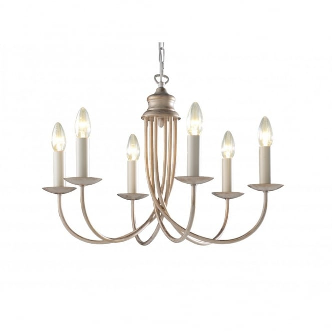 The David Hunt Lighting Collection BERMUDA cream gold ceiling light