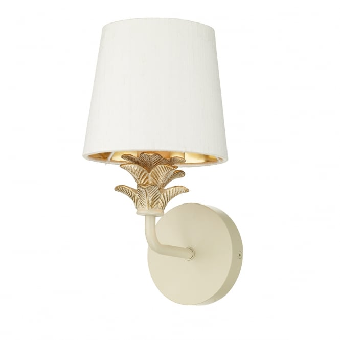 The David Hunt Lighting Collection CABANA single cream and gold wall light (excludes shade)