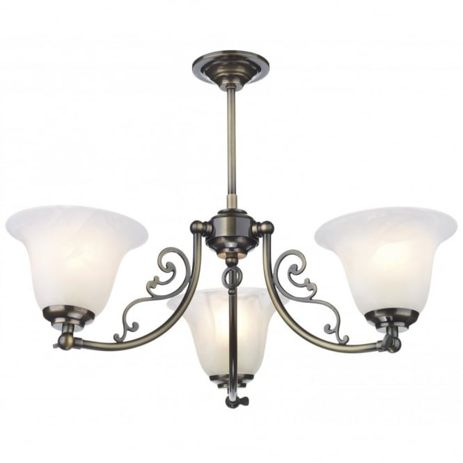 The David Hunt Lighting Collection CAMPDEN antique brass low ceiling light