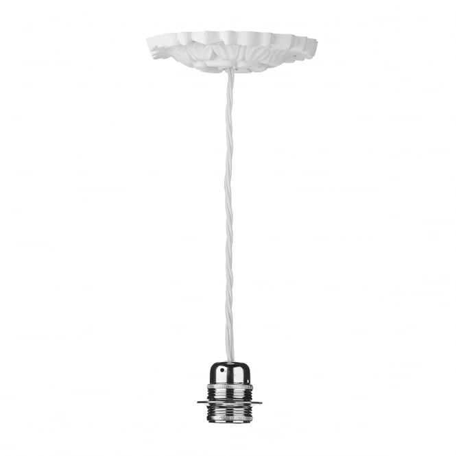 The David Hunt Lighting Collection CHATSWORTH single decorative white ceiling pendant suspension