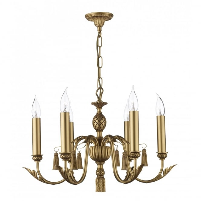 The David Hunt Lighting Collection CLASSIC antique gold ceiling light