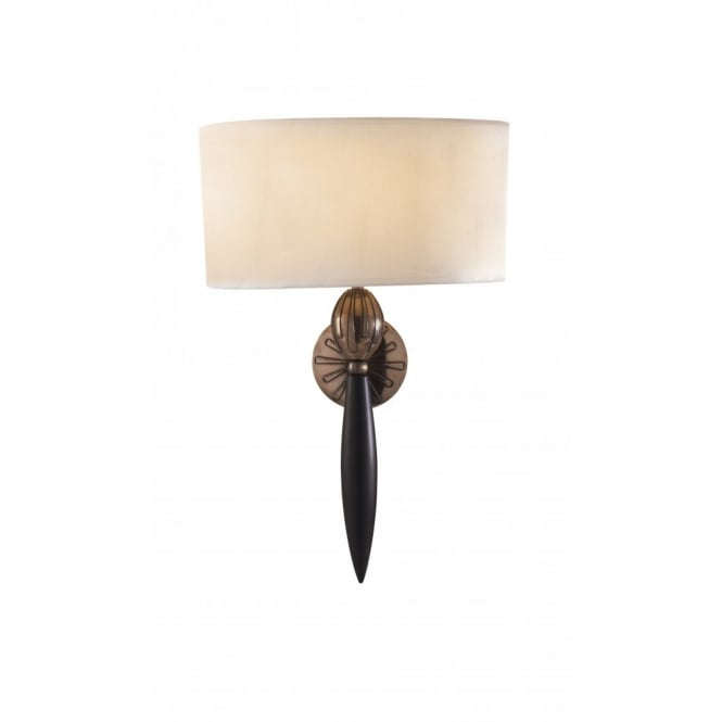 The David Hunt Lighting Collection CONTOUR black and bronze wall light