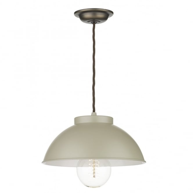 The David Hunt Lighting Collection COTSWOLD French cream painted metal ceiling pendant light