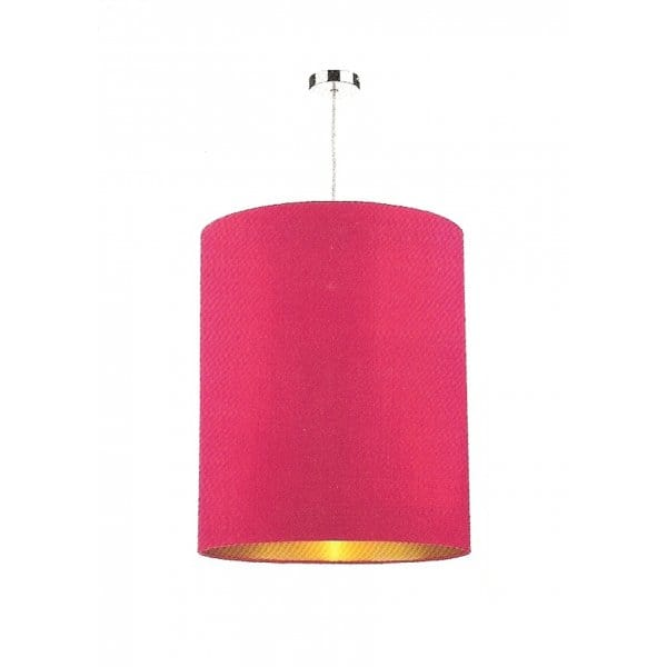 Large Hanging Ceiling Light Shade In Hot Pink Silk With