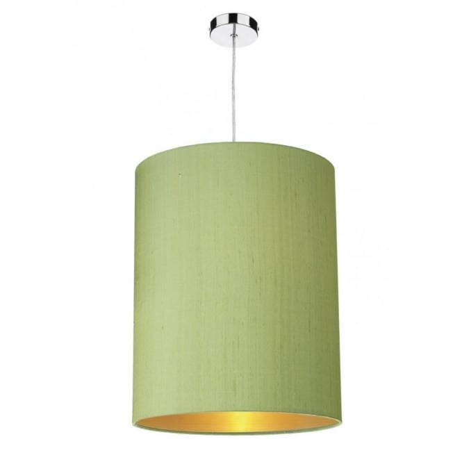 Green Ceiling Light Shades: The David Hunt Lighting Collection CYLINDER medium shamrock green  cylindrical silk light shade,Lighting