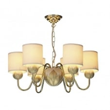 DAHLIA 6lt ivory gold ceiling chandelier