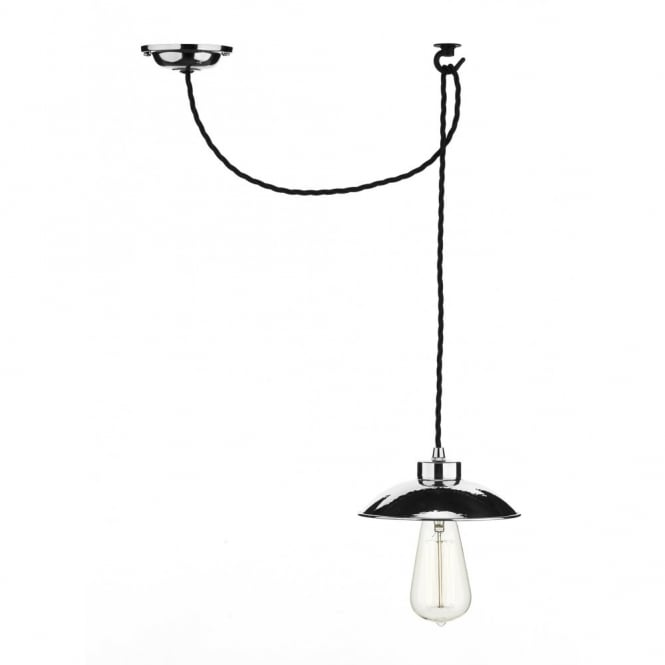 The David Hunt Lighting Collection DALLAS traditonal style polished chrome ceiling pendant