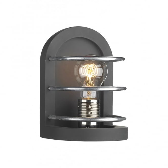 The David Hunt Lighting Collection DETROIT matt black traditional wall light