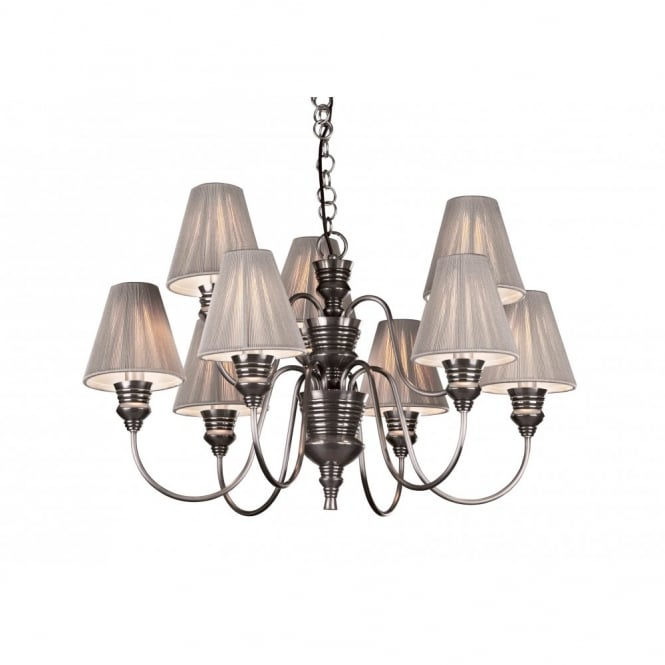 The David Hunt Lighting Collection DOREEN antique pewter ceiling light