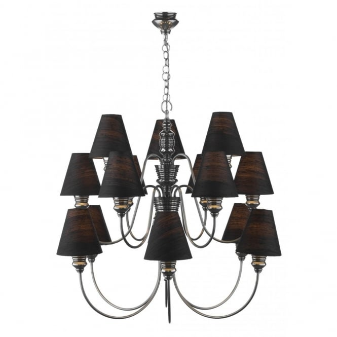 The David Hunt Lighting Collection DOREEN large pewter ceiling light