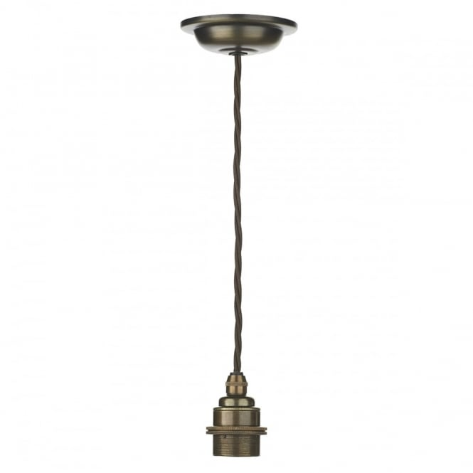 DUXFORD antique brass pendant suspension