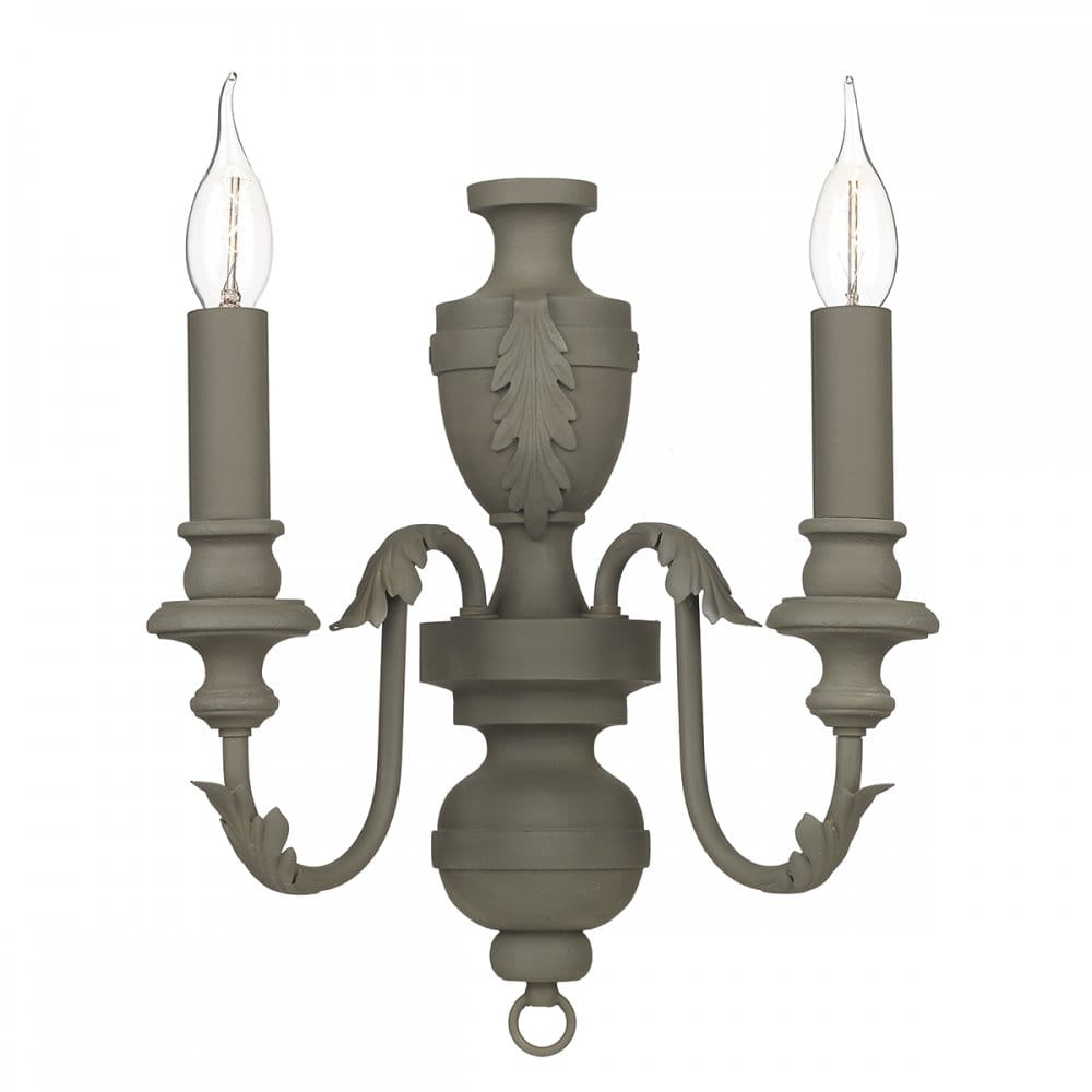 Classical wall light with a twist. Chandelier style painted wall light