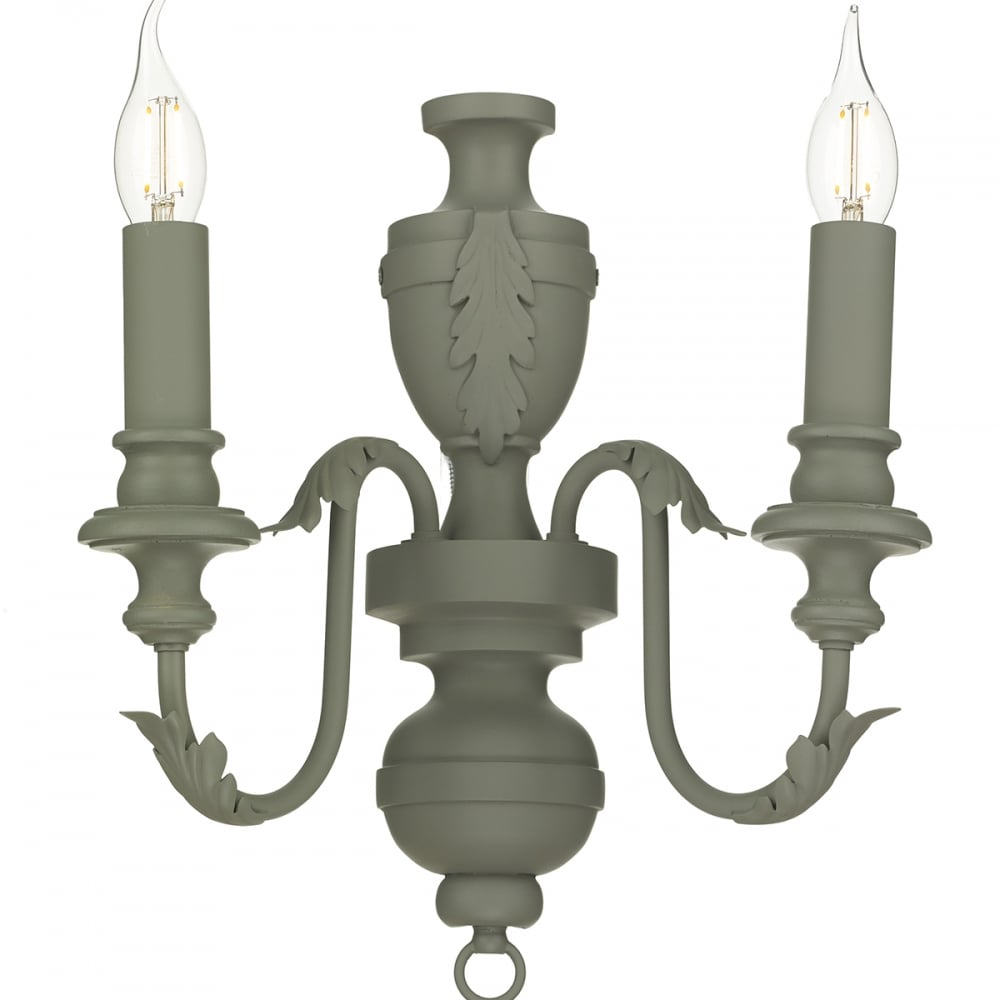 Emile rustic traditional double wall light in an ash grey finish rustic double wall light in an ash grey finish aloadofball Images