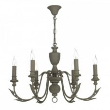 EMILE Traditional Chandelier French Style Painted in 'Mole Brown' brings a modern freshness to a classic design.