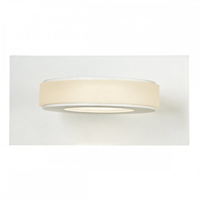 The David Hunt Lighting Collection EPIC contemporary LED wall light in white finish