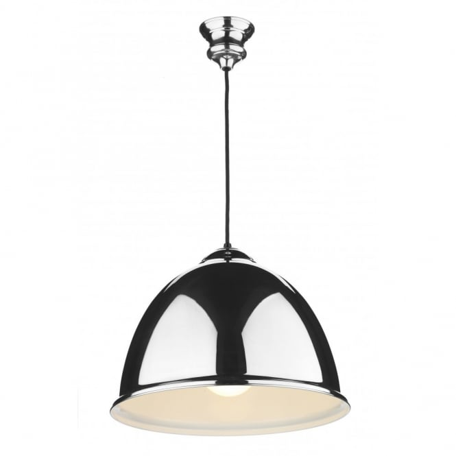 The David Hunt Lighting Collection EUSTON double insulated chrome ceiling pendant