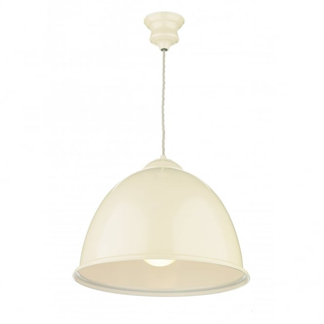 The David Hunt Lighting Collection EUSTON double insulated cream pendant