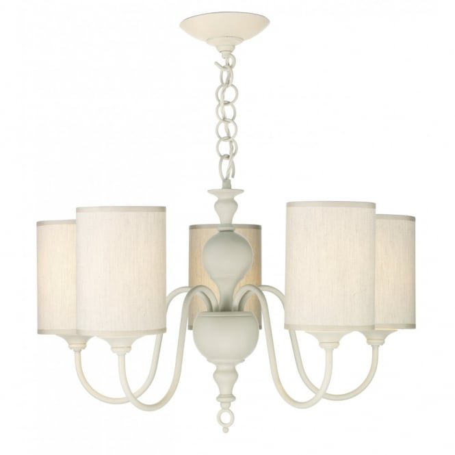 FLEMISH antique cream 5 light pendant